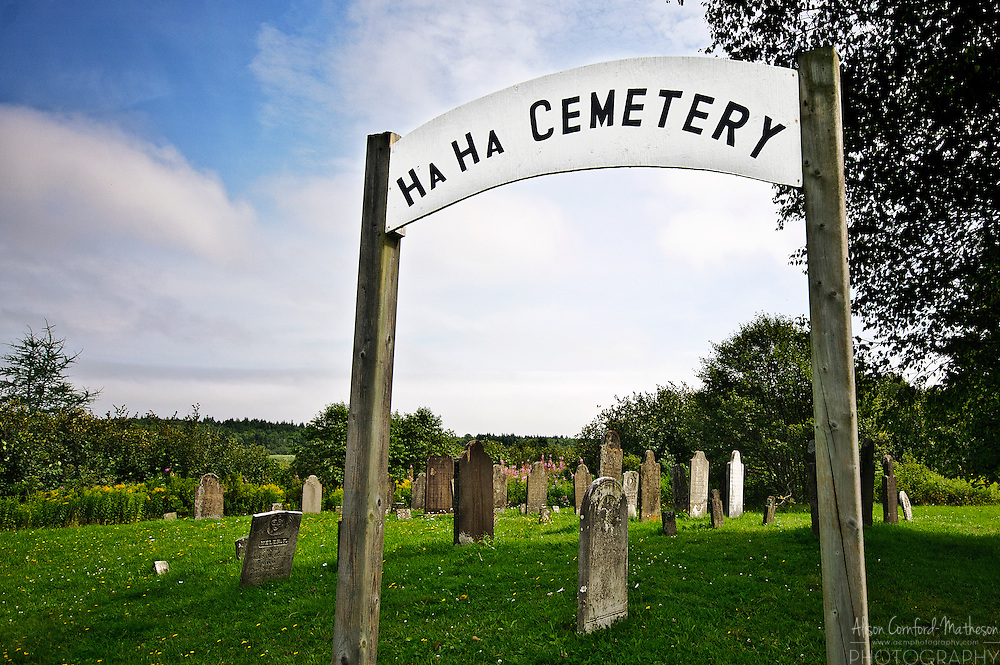 The Ha Ha Cemetery is located in Albert County, New Brunswick. It takes its name from the Ha Ha creek running nearby.