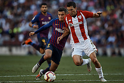 September 29, 2018 - Barcelona, Barcelona, Spain - Oscar de Marcos Arana (R) of Athletic Club de Bilbao competes for the ball with Philippe Coutinho of FC Barcelona during the La Liga match between FC Barcelona and Athletic Club de Bilbao at Camp Nou on September 29, 2018 in Barcelona, Spain  (Credit Image: © David Aliaga/NurPhoto/ZUMA Press)