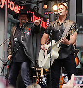 "Photos of the country duo Montgomery Gentry performing on the FOX & Friends ""All American Concert Series"" at FOX News studios, NYC. May 25, 2012. Copyright © 2012 Matthew Eisman. All Rights Reserved."