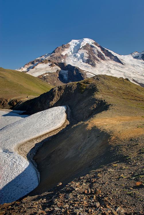 Mount Baker (elevation 10,778feet (3,285m) seen from Chowder Ridge, Mount Baker Wilderness Washington USA