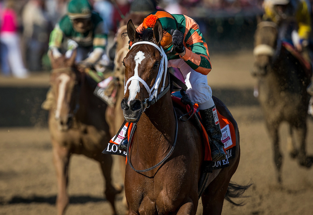 "May 01, 2015: Lovely Maria with Kerwin ""Boo Boo"" Clark up wins the Kentucky Oaks Stakes at Churchill Downs Louisville Ky. Alex Evers/ESW/CSM"