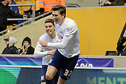 Preston North End defender Adam Reach celebrates goal during the Sky Bet Championship match between Wolverhampton Wanderers and Preston North End at Molineux, Wolverhampton, England on 13 February 2016. Photo by Alan Franklin.