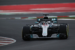 February 26, 2018 - Barcelona, Catalonia, Spain - February 26, 2018 - Circuit de Barcelona-Catalunya, Montmelo, Spain - Formula One preseason 2018; Lewis HAMILTON of Mercedes-AMG-Petronas Formula One Team,Mercedes F1 W00 Hybrid, during the afternoon session. (Credit Image: © Eric Alonso via ZUMA Wire)