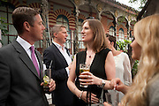 GILES COOK; ROWENA KENNY, Archant Summer party. Kensington Roof Gardens. London. 7 July 2010. -DO NOT ARCHIVE-© Copyright Photograph by Dafydd Jones. 248 Clapham Rd. London SW9 0PZ. Tel 0207 820 0771. www.dafjones.com.