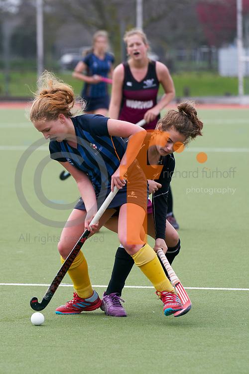 Woodford/Iona/Nga Tawa/St Matthews Quad Sports Event, 2018.<br /> Netball/Football/Hockey<br /> Hockey - Woodford House vs Nga Tawa Diocesan