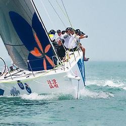 China Sanya 26.3.2014 Round Hainan Regatta<br /> Racing day 6 Start Offshore  Haiku - Sanya