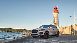Jaguar E Pace photographed in France in Saint Tropez by Jürg Kaufmann