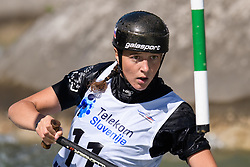 Alja KOZOROG of Slovenia during the Canoe Single (WC1) Womens Semi Final race of 2019 ICF Canoe Slalom World Cup 4, on June 30, 2019 in Tacen, Ljubljana, Slovenia. Photo by Sasa Pahic Szabo / Sportida