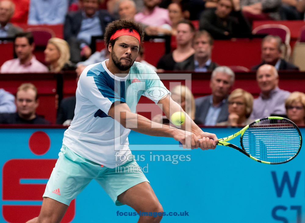 Jo-Wilfred Tsonga during the final of the Erste Bank Open at Wiener Stadthalle, Vienna, Austria.<br /> Picture by EXPA Pictures/Focus Images Ltd 07814482222<br /> 30/10/2016<br /> *** UK &amp; IRELAND ONLY ***<br /> EXPA-PUC-161030-0371.jpg
