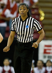 March 29, 2010; Sacramento, CA, USA; NCAA official Lisa Jones during the second half of the game between the Stanford Cardinal and the Xavier Musketeers in the finals of the Sacramental regional in the 2010 NCAA womens basketball tournament at ARCO Arena. Stanford defeated Xavier 55-53.