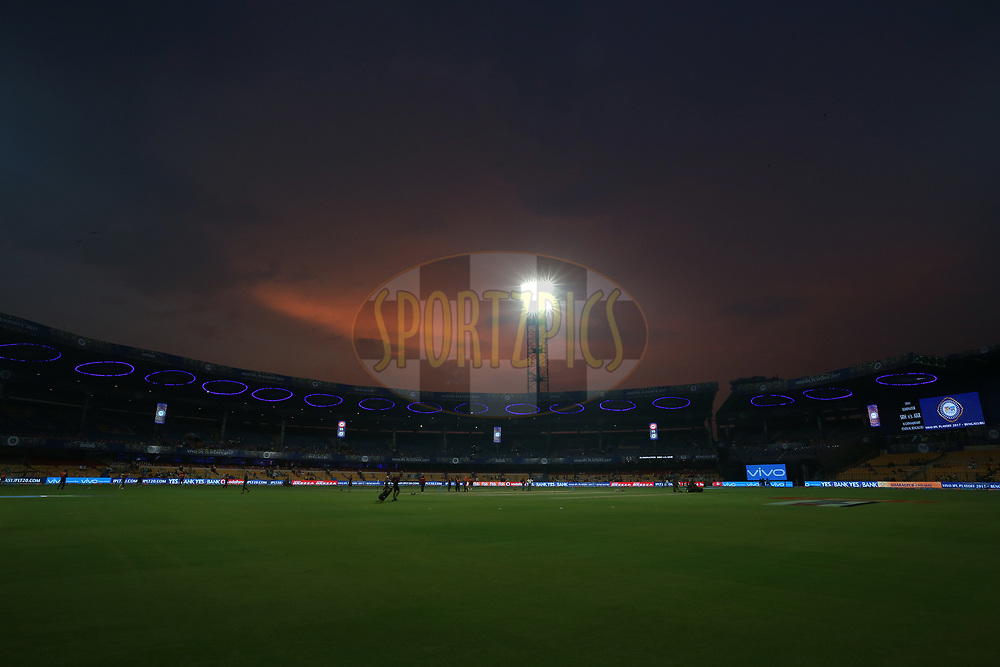 General view during the eliminator match of the Vivo 2017 Indian Premier League between the Sunrisers Hyderabad and the Kolkata Knight Riders held at the M.Chinnaswamy Stadium in Bangalore, India on the 17th May 2017<br /> <br /> Photo by Shaun Roy - Sportzpics - IPL