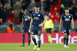 Hirving Lozano of PSV during the UEFA Champions League group C match between Tottenham Hotspur FC and PSV Eindhoven at the Wembley stadium on November 06, 2018 in London, England
