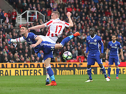 Gary Cahill of Chelsea (L) and Ryan Shawcross of Stoke City in action - Mandatory by-line: Jack Phillips/JMP - 18/03/2017 - FOOTBALL - Bet365 Stadium - Stoke-on-Trent, England - Stoke City v Chelsea - Premier League