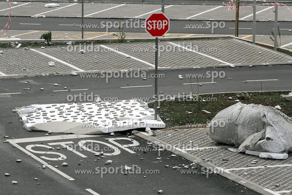 05.03.2015, Rijeka, CRO, Sturm in Kroatien, Sturm verursacht Probleme in ganz Kroatien. Die meisten Probleme haben die Bewohner von Dalmatien und Istrien, im Bild Sturmsch&auml;den // Storm causes problems in Croatia. The main concern of the inhabitants of Dalmatia and Istria. Rijeka, Croatia on 2015/03/05. EXPA Pictures &copy; 2015, PhotoCredit: EXPA/ Pixsell/ Goran Kovacic<br /> <br /> *****ATTENTION - for AUT, SLO, SUI, SWE, ITA, FRA only*****