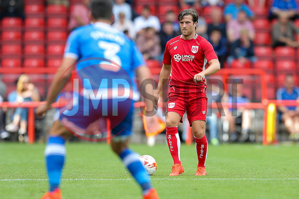 Adam Matthews of Bristol City in action - Rogan Thomson/JMP - 30/07/2016 - FOOTBALL - Ashton Gate Stadium - Bristol, England - Bristol City v Portsmouth - Pre-Season Friendly.