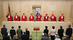 Federal Constitutional Court. SNB oral Negotiation Negotiations start. First Senate Court officials Karlsruhe, Germany, Germany, December 18, 2012. Photo by Imago / i-Images...UK ONLY