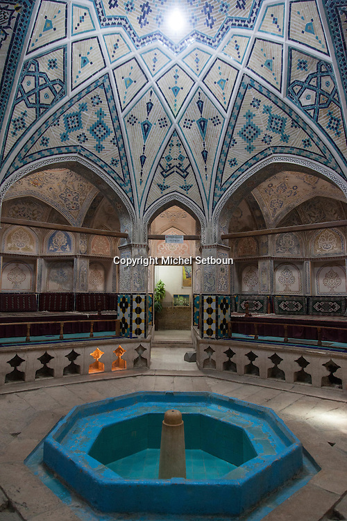 Iran . Kashan (Persian: کاشان‎, also Romanized as Kāshān and Kachan) is a city in and the capital of Kashan County, in the province of Isfahan,