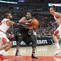 16 March 2012: Chicago Bulls point guard C.J. Watson (7) defends on Portland Trail Blazers point guard Raymond Felton (5) during the Portland Trail Blazers 100-89 victory over the Chicago Bulls at the United Center, Chicago, Illinois, USA.