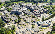 Nederland, Noord-Brabant, Tilburg, 23-08-2016; ETZ Elisabeth, Elisabeth-TweeSteden Ziekenhuis (ETZ). In de voorgrond Methylschool Tilburg.<br /> luchtfoto (toeslag op standard tarieven);<br /> aerial photo (additional fee required);<br /> copyright foto/photo Siebe Swart