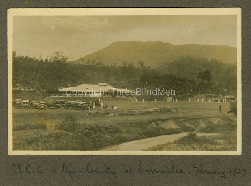 from Moiya Collection. M.C.C. v Up - Country at Darawella. February 1927 Moiya Hazell Collection