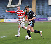 Dundee's Greg Stewart goes past Hamilton&rsquo;s Grant Gillespie -  Dundee v Hamilton Academical, SPFL Premiership at Dens Park <br /> <br /> <br />  - &copy; David Young - www.davidyoungphoto.co.uk - email: davidyoungphoto@gmail.com