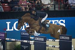 Lindelow Douglas, (SWE), Casello<br /> Longines FEI World Cup™ Jumping Final III round 1<br /> Las Vegas 2015<br />  © Hippo Foto - Dirk Caremans<br /> 19/04/15