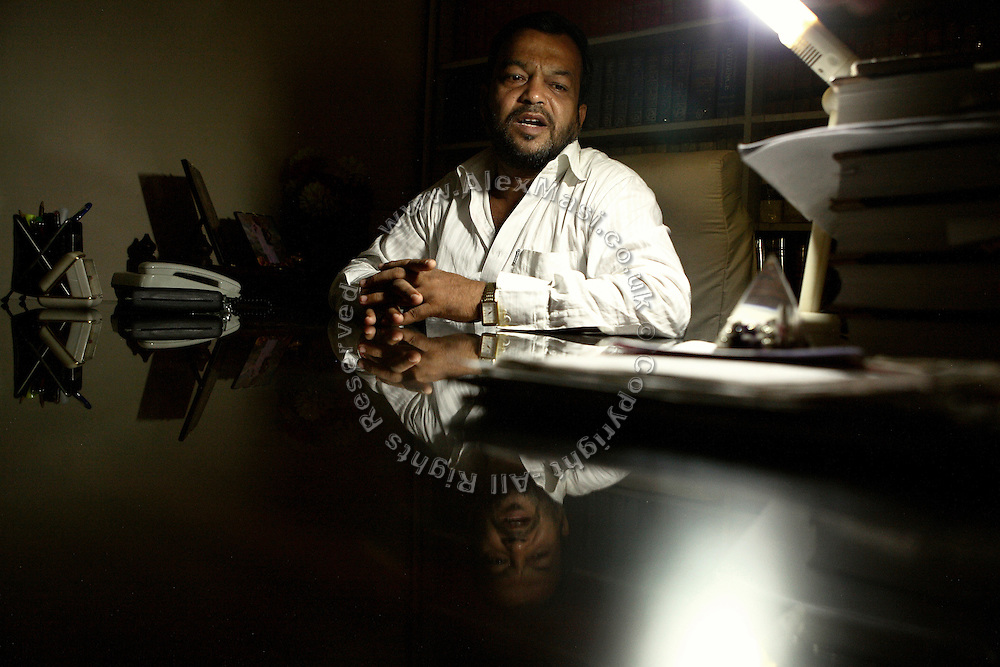 B. B. Mohanty, 47, the advocate defending Raja Archary, the alleged killer of Biranchi Das is portrayed while sitting in his office, in Bhubaneswar, the capital of Orissa State, on Saturday, May 17, 2008. On May 1, 2006, Budhia completed a record breaking 65 km run from Jagannath temple, Puri to Bhubaneswar. He was accompanied by his coach Biranchi Das and by the Central Reserve Police Force (CRPF). On 8th May 2006, a Government statement had ordered that he stopped running. The announcement came after doctors found the boy had high blood pressure and cardiological stress. As of 13th August 2007 Budhia's coach Biranchi Das was arrested by Indian police on suspicion of torture. Singh has accused his coach of beating him and withholding food. Das says Singh's family are making up charges as a result of a few petty rows. On April 13, Biranchi Das was shot dead in Bhubaneswar, in what is believed to be an event unconnected with Budhia, although the police is investigating the case and has made an arrest, a local goon named Raja Archary, which is now in police custody. **Italy and China Out**