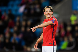 October 8, 2017 - Oslo, NORWAY - 171008  Sander Berge of Norway during the FIFA World Cup Qualifier match between Norway and Northern Ireland on October 8, 2017 in Oslo..Photo: Jon Olav Nesvold / BILDBYRÃ…N / kod JE / 160041 (Credit Image: © Jon Olav Nesvold/Bildbyran via ZUMA Wire)