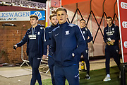 Brad Potts (44) of Preston North End FC arriving at Oakwell Stadium before the EFL Sky Bet Championship match between Barnsley and Preston North End at Oakwell, Barnsley, England on 21 January 2020.