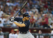 May 14, 2013; Phoenix, AZ, USA; Atlanta Braves infielder Andrelton Simmons (19)  at bat against the Arizona Diamondbacks at Chase Field. The Diamondbacks defeated the Braves 2-0.  Mandatory Credit: Jennifer Stewart-USA TODAY Sports