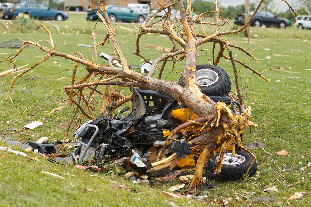 June 06, 2010: An ATV is wrapped up in a tree after a Tornado reaps Distruction in Ottawa County, Ohio