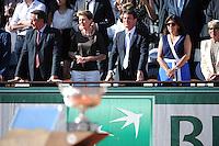 Anne HIDALGO / Manuel VALLS  - 07.06.2015 - Jour 15 - Finale  - Roland Garros 2015<br /> Photo : Nolwenn Le Gouic / Icon Sport