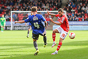 Walsall's Milan Lalkovič & Bury's Andrew Tutte during the Sky Bet League 1 match between Walsall and Bury at the Banks's Stadium, Walsall, England on 5 September 2015. Photo by Shane Healey.