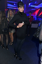 GIZZI ERSKINE at a party hosted by Rimmel London to celebrate the 10 year partnership with Kate Moss held at Battersea Power Station, London SW8 on 15th September 2011.