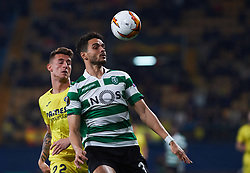 February 21, 2019 - Villarreal, Castellon, Spain - Daniel Raba of Villarreal CF and Tiago Ilori of Sporting Lisboa during the UEFA Europa League Round of 32 Second Leg match between Villarreal and Sporting Lisboa at Estadio de La Ceramica on February 21, 2019 in Vila-real, Spain. (Credit Image: © Maria Jose Segovia/NurPhoto via ZUMA Press)