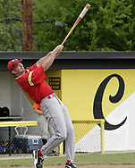 Jake Long, from Middletown Fenwick High School gets warmed up for a Division III baseball game, at Centerville High School, Saturday, May 19th.