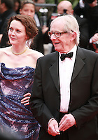 Simone Kirby and Ken Loach at Jimmy's Hall gala screening red carpet at the 67th Cannes Film Festival France. Thursday 22nd May 2014 in Cannes Film Festival, France.