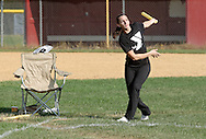 Scotchtown, New York - A batter watches the ball she hit atthe Wiffle for Kids charity Wiffle Ball tournament at the Town of Wallkill Little League fields on Sept. 25, 2010. The annual event is run by the Wallkill East Rotary.