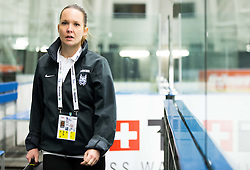 Manca Marc Globevnik, physiotherapist during practice session of Slovenian Ice Hockey National Team at Day 4 of 2015 IIHF World Championship, on May 4, 2015 in Practice arena Vitkovice, Ostrava, Czech Republic. Photo by Vid Ponikvar / Sportida