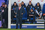 Newcastle United Manager Rafa Benitez  during the Barclays Premier League match between Leicester City and Newcastle United at the King Power Stadium, Leicester, England on 14 March 2016. Photo by Simon Davies.