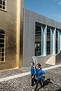 Milan, The gold tower  at Fondazione Prada