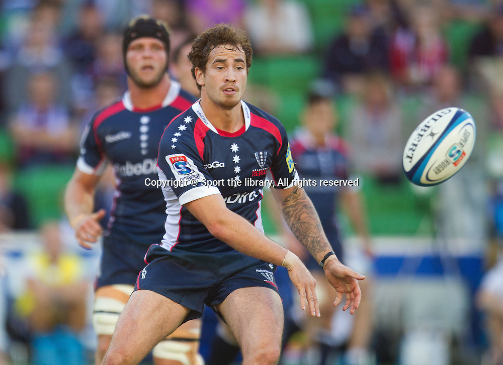 Danny Cipriani (Rebels)<br /> Rugby Union - Super Rugby: Rebels vs Cheetahs<br /> AAMI Park, Melbourne Sunday March 18, 2012<br /> &copy; Sport the library/ Lucas Wroe
