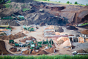 Production of sand, gravel, and topsoil in Olympia, Washington