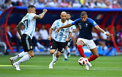 June 30, 2018 - Kazan, Russia - Soccer Football - World Cup - Round of 16 - France vs Argentina - Kazan Arena, Kazan, Russia - June 30, 2018  France's Kylian Mbappe in action with Argentina's Nicolas Otamendi    REUTERS/Dylan Martinez (Credit Image: © Panoramic via ZUMA Press)