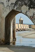 San Jose Battery courtyard (Spanish fort-1753), Baru island,  Cartagena de Indias, Bolivar Department,, Colombia, South America.