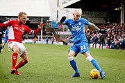 Peterborough Utd forward Marcus Maddison (21) crosses the ball during the EFL Sky Bet League 1 match between Peterborough United and Charlton Athletic at London Road, Peterborough, England on 26 January 2019.
