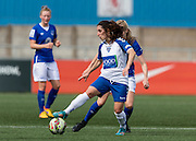 Amelia Pereira (Durham Womens FC) controls the ball during the FA Women's Super League match between Durham Women FC and Everton Ladies at New Ferens Park, Belmont, United Kingdom on 30 August 2015. Photo by George Ledger.