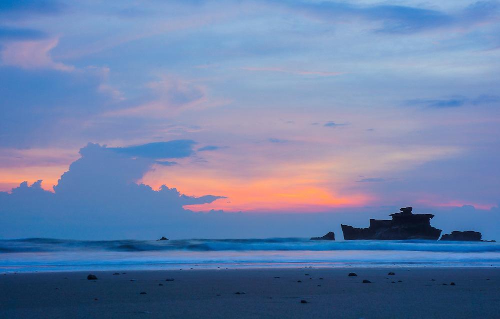 Long exposure sunset at Balian Beach
