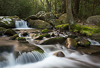 One of the many scenics along Roaring Fork Motor Nature Trail outside of Gatlinburg, Tennessee.  Roaring Fork is part of Great Smoky Mountains National Park.