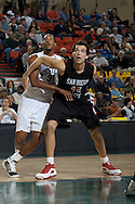 November 27, 2008: Western Carolina's Adrian Gailliard (31) fights for position with San Diego State's Mehdi Cheriet (42) in the final game in the opening round of the 2008 Great Alaska Shootout at the Sullivan Arena